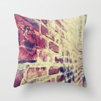cookie monster Throw Pillows featuring Cookie Monster by sc00kie