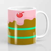 cake Mugs featuring Cake by Rejdzy