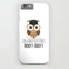 Con-grad-ulations! Hoot! Hoot! iPhone Case