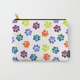 Rainbow Paw Print Pattern Carry-All Pouch