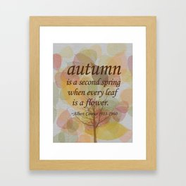 "Albert Camus Quote, ""Autumn is..."" 8x10 print Framed Art Print"