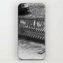 B & W Bench iPhone Skin