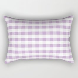 Gingham buffalo plaid check pattern purple lilac minimal basic pattern Rectangular Pillow