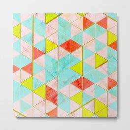 Marble Triangle Tile Barcelona Metal Print