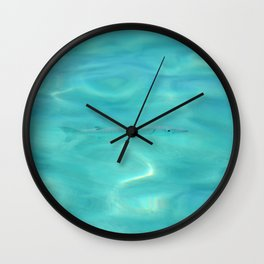 Fish Swimming in the Ocean Wall Clock