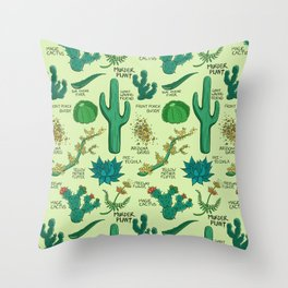 Native Desert Plants Throw Pillow