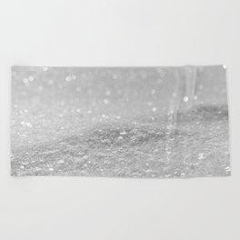 Glitter Silver Beach Towel