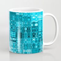 blueprint Mugs featuring Blueprint by Alice Gosling