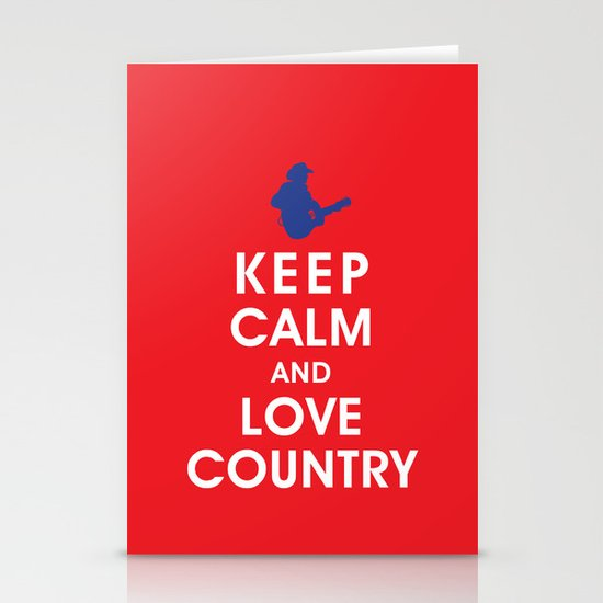 Keep Calm and Love Country Stationery Cards