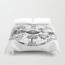 Wiccan Wheel of the Year Duvet Cover
