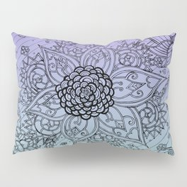 Flower Zen: Purple Fade Pillow Sham