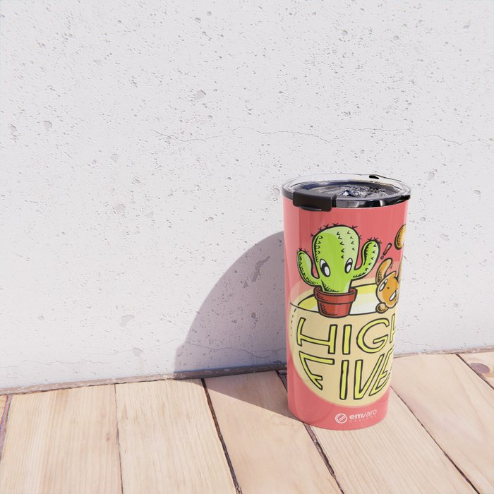 Scribbles & Prickles: High five Travel Mug