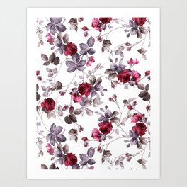 winter floral Art Print