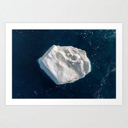 Arcturus the lone Iceberg – Minimalist Landscape Photography Art Print