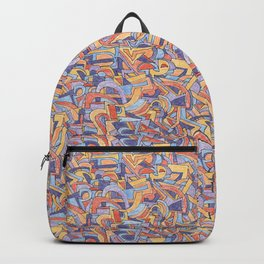 Party in Orange and Blue Backpack
