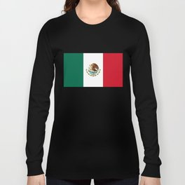 The Mexican national flag - Authentic high quality file Long Sleeve T-shirt