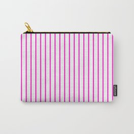 Vertical Lines (Hot Magenta/White) Carry-All Pouch