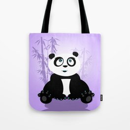 Panda Girl - Purple Tote Bag