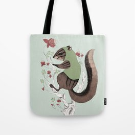 Squirrel Green Hood Tote Bag
