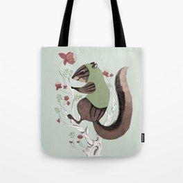 Squirrel Green Hood Tote Bag