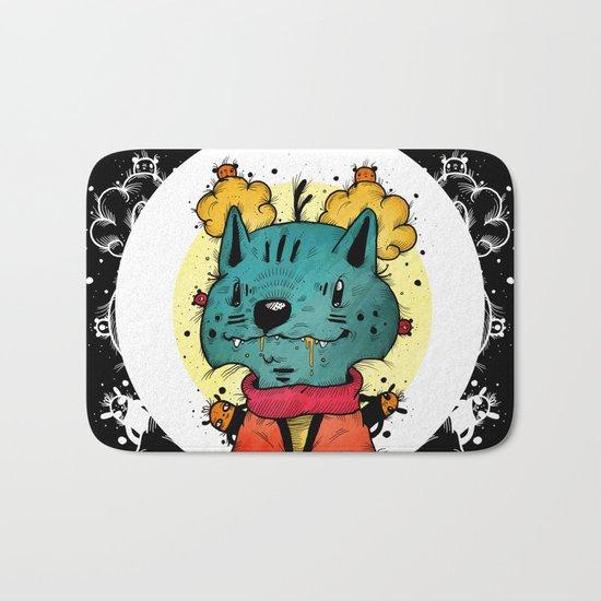 Wolfy (Color Version) Bath Mat