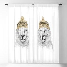Winter lion Blackout Curtain