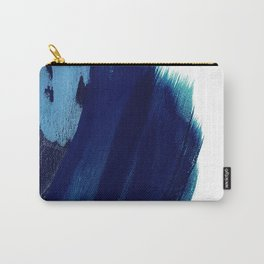 Indigo wave abstract Carry-All Pouch