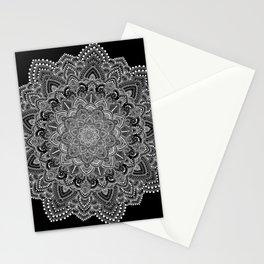 White lace Mandala Stationery Cards