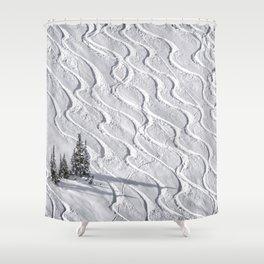 Powder tracks Shower Curtain