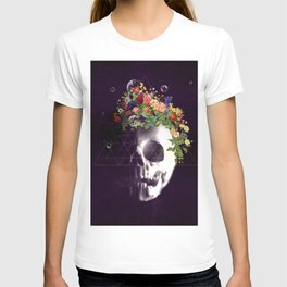 Skull with flowers no1 T-shirt