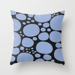 SPRING DOTS WITH BLACK BACK Throw Pillow