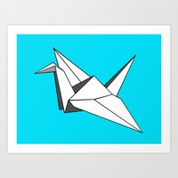 origami Art Prints featuring origami by elyinspira