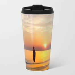 Iron Man on Crosby Beach Travel Mug