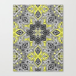 Boho Sunshine Medallion Pattern Canvas Print