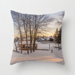 Winter Peace Throw Pillow