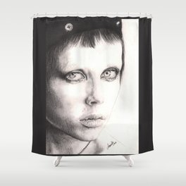 edie campbell... Shower Curtain