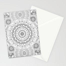 MOONCHILD MANDALA BLACK AND WHITE Stationery Cards