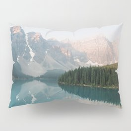 Pastel Sunrise over Moraine Lake Pillow Sham
