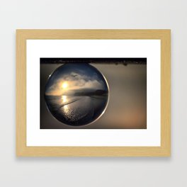 Capturing Avila Beach refraction photography crystal ball Framed Art Print
