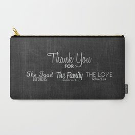 Thanksgiving Grace | Chalkboard Style Carry-All Pouch