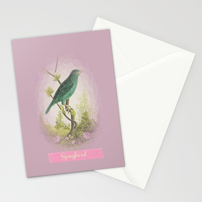 Songbird {dusky lilac} Stationery Cards