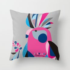 Miss Galah Throw Pillow