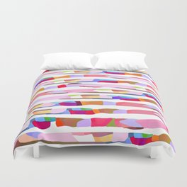 Waves of Noise ~ Pink Duvet Cover