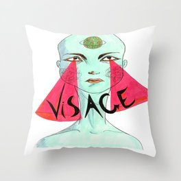 A Unique Visage  Throw Pillow