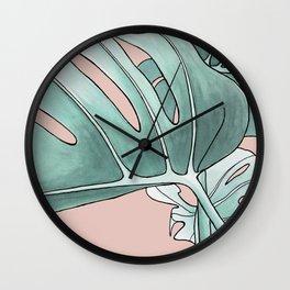 Leaves II Wall Clock