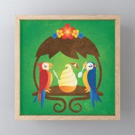 Tiki Birds Ice Cream Date Framed Mini Art Print
