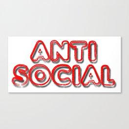 Anti Social Canvas Print