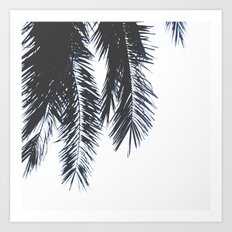 Palm Tree leaves abstract Art Print