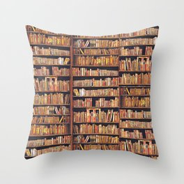 Books, books, books Throw Pillow