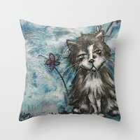 marley Throw Pillows featuring Marley by Allison Weeks Thomas